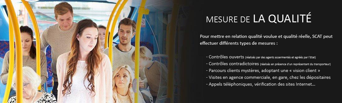 mesure qualité réseau transport