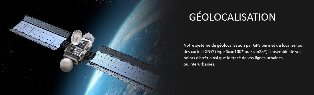 géolocalisation points d'arrêts réseau transport